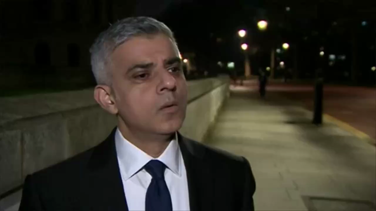 Westminster attack: 'We won't be cowed by terrorists' says London Mayor Sadiq Khan
