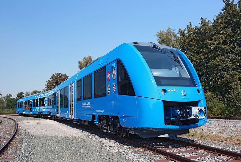 Zero-emission hydrogen train completes first test run