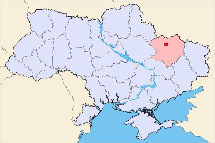 Balakleya Ukraine map