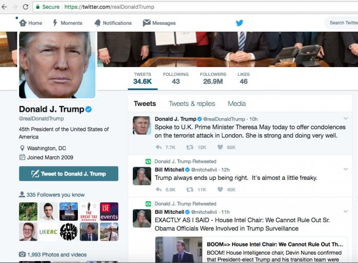President Donald Trump retweets conspiracy theorist