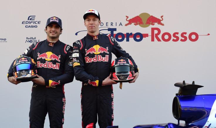 Daniil Kvyat and Carlos Sainz