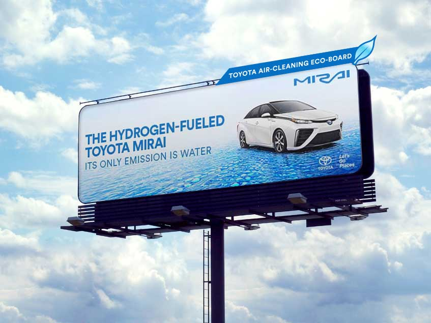 Toyota eco billboard air pollution
