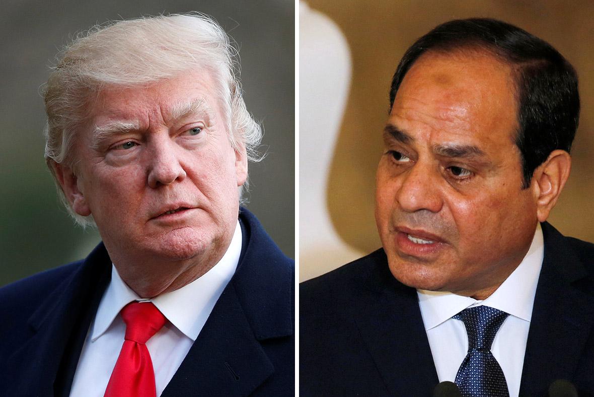 Donald Trump and Abdel Fattah al-Sisi