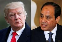 Donald Trump and Abdel Fattah al-Sisi