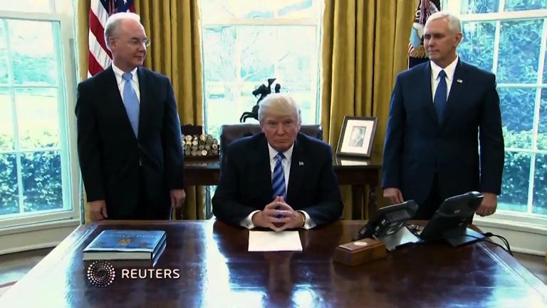 Trump praises Paul Ryan for hard work on failed Obamacare vote