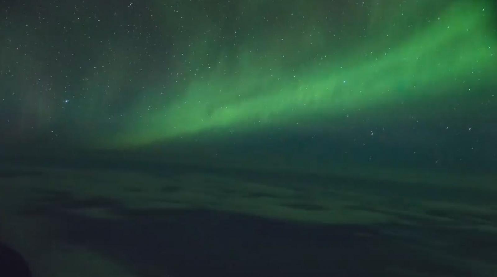 First commercial aurora flight