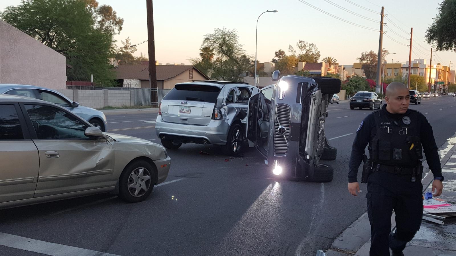 Uber grounds entire self-driving car fleet following a serious crash in Arizona