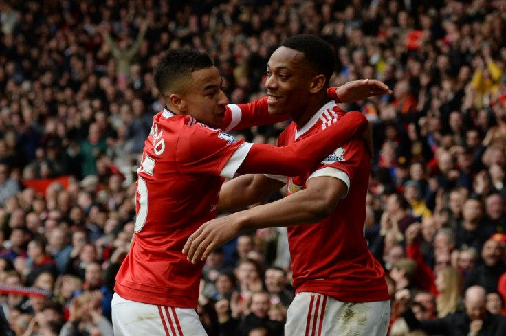 Anthony Martial and Jesse Lingard