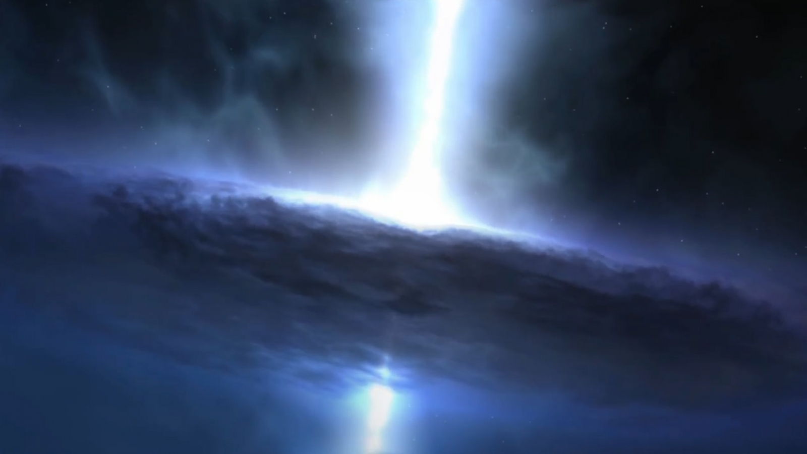 Stars form at the heart of black hole blasts