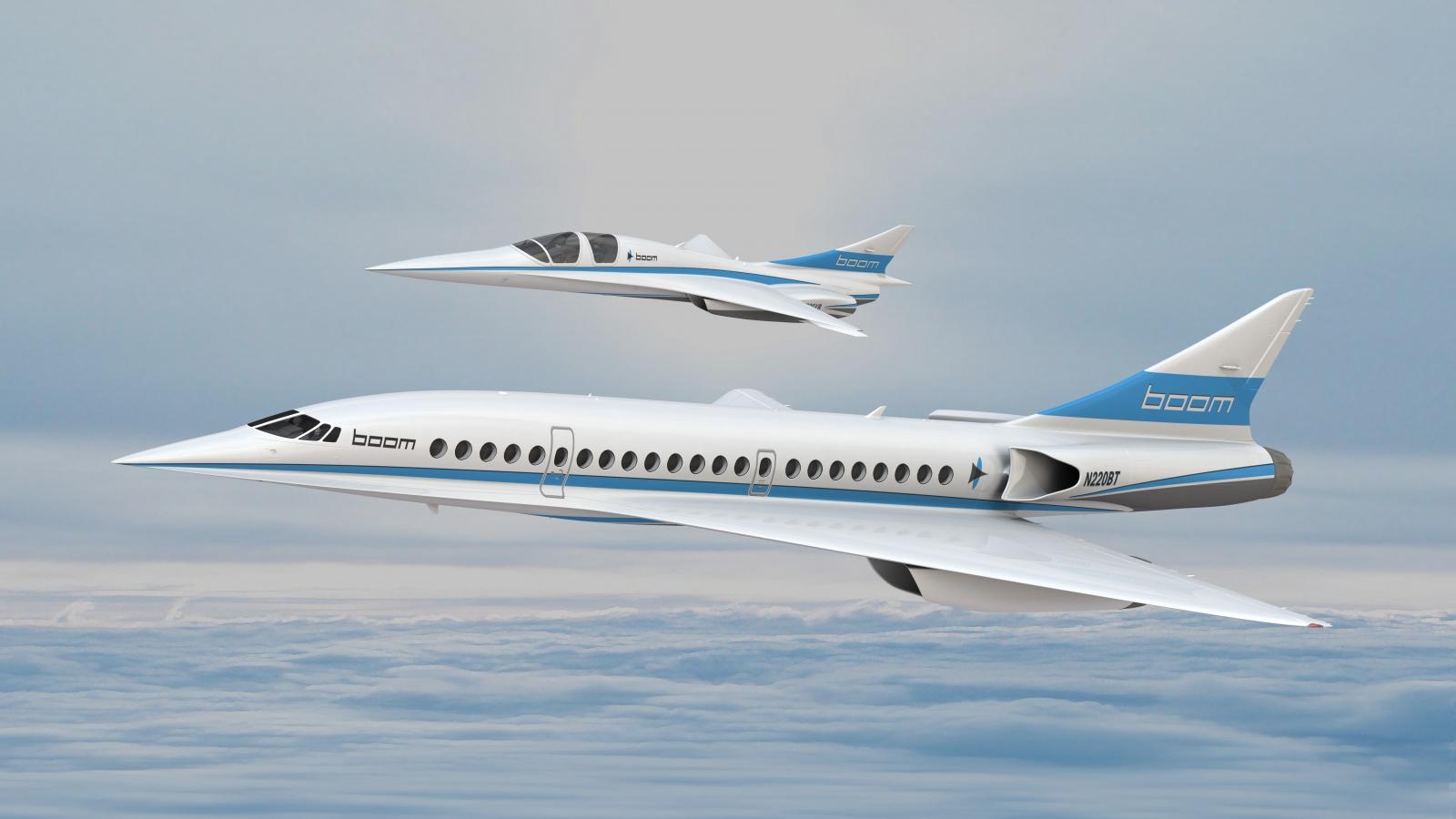 Boom technology supersonic plane render