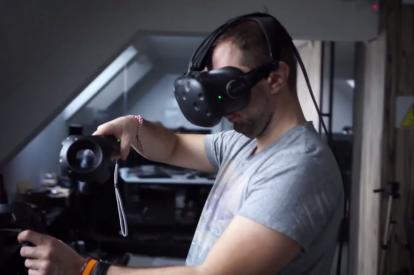 Quark VR wireless HTC Vive prototype