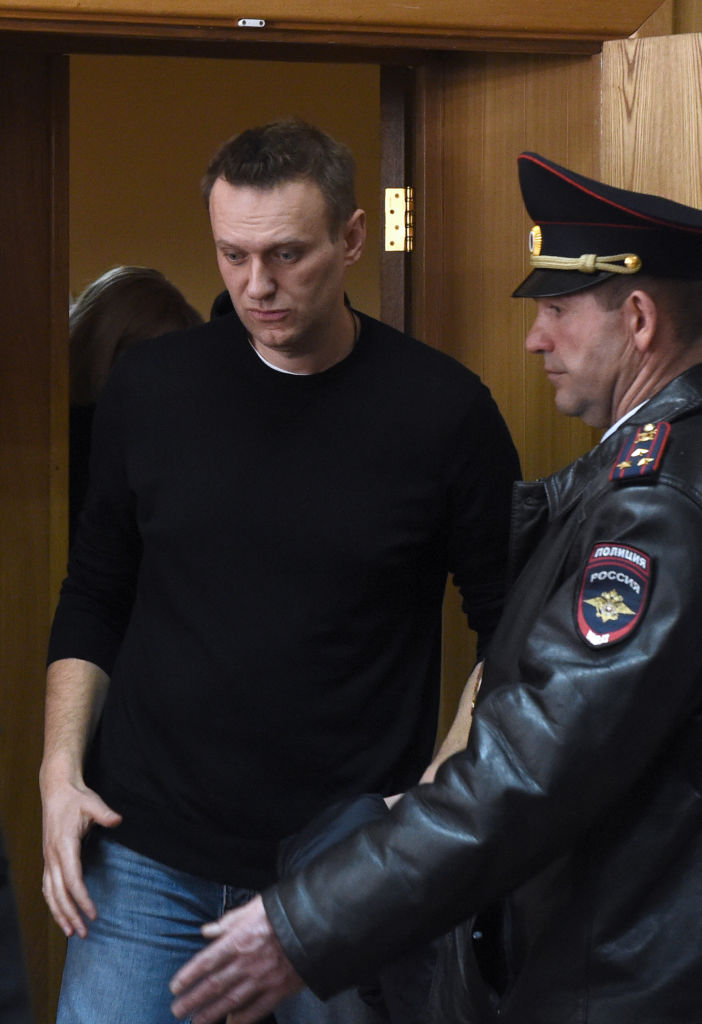 Alexander Navalny appears at a Moscow court