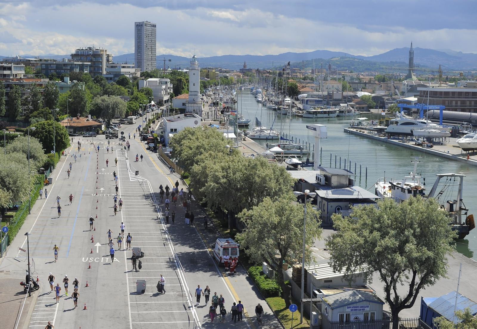 A view of Rimini harbour