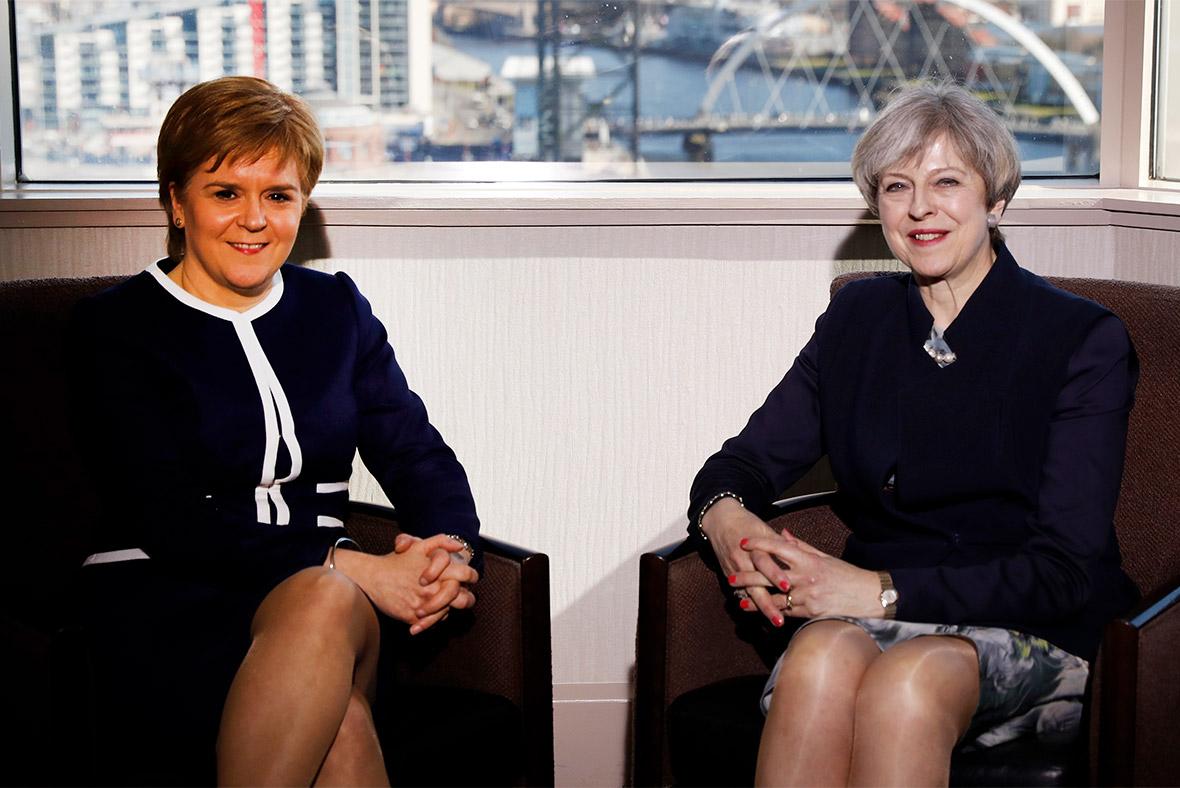 Nicola Sturgeon, Theresa May