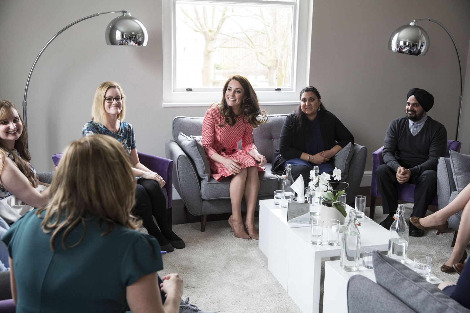 Duchess of Cambridge meets parent support group