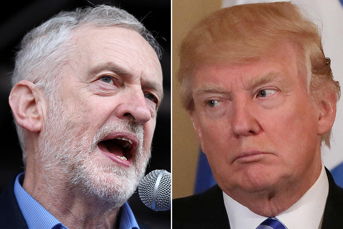 Jeremy Corbyn, Donald Trump