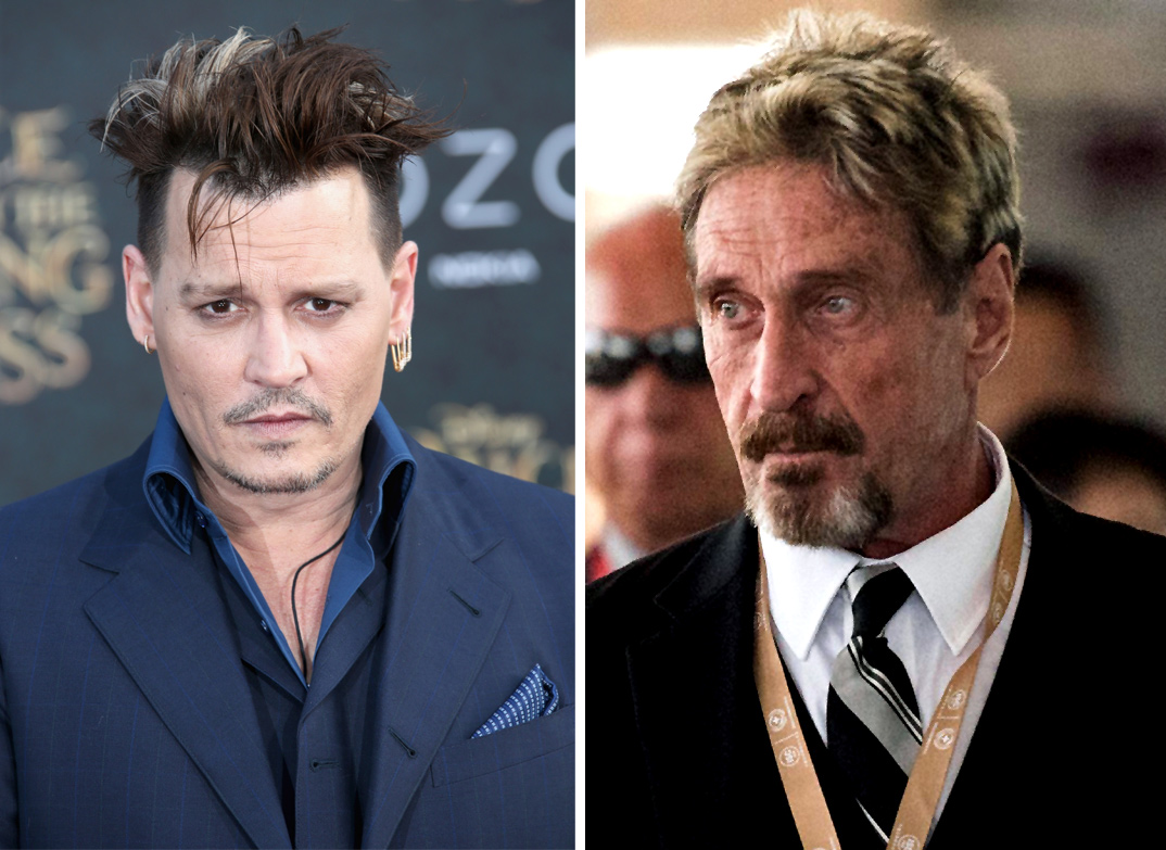 Johnny Depp and John McAfee