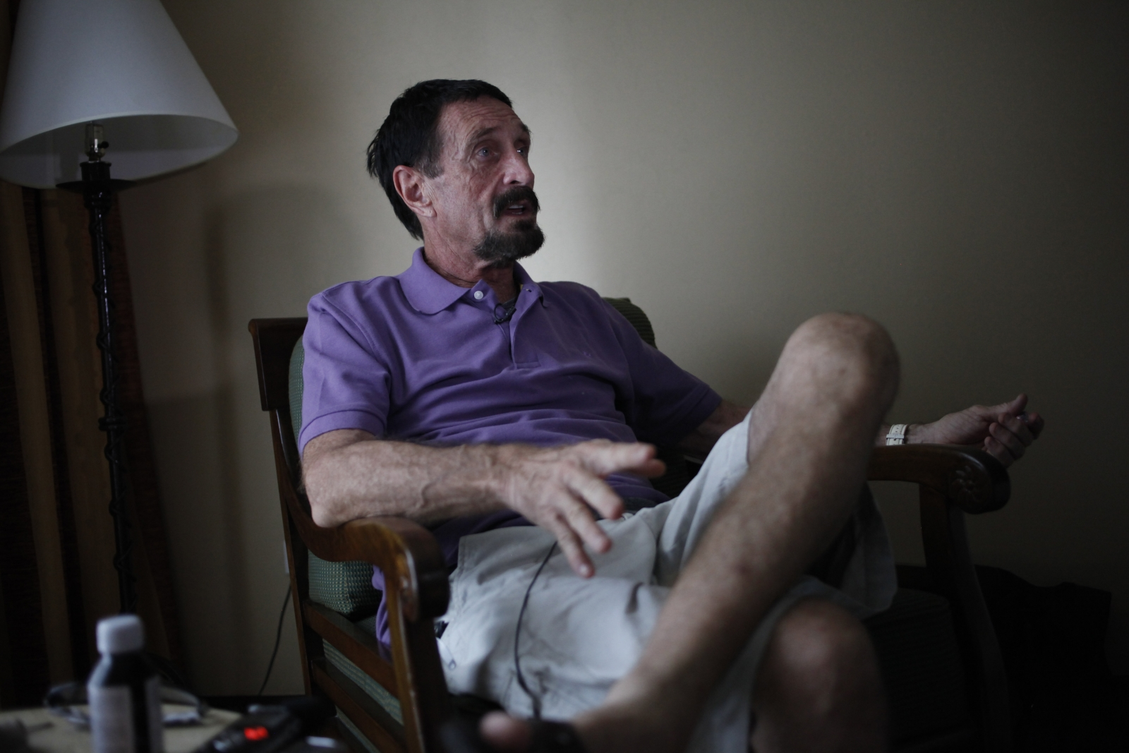 John McAfee in Guatemala in December 2012