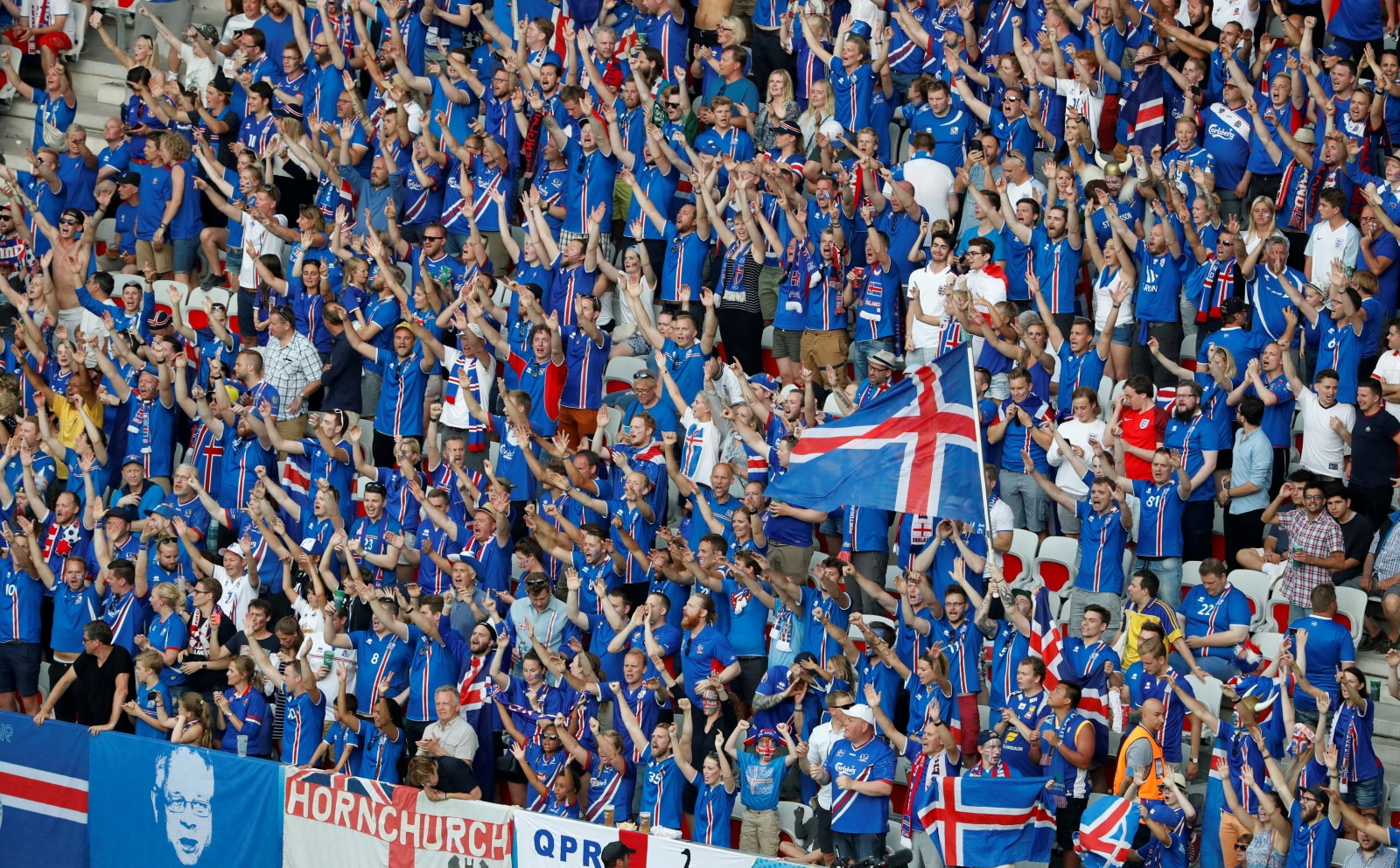 Icelandic fans Euro 2016