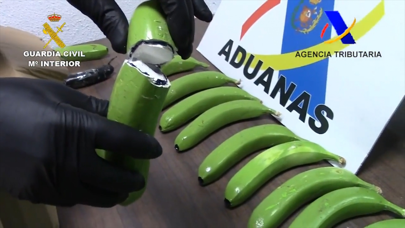 Spanish police seize £12m worth of cocaine hidden in fake bananas
