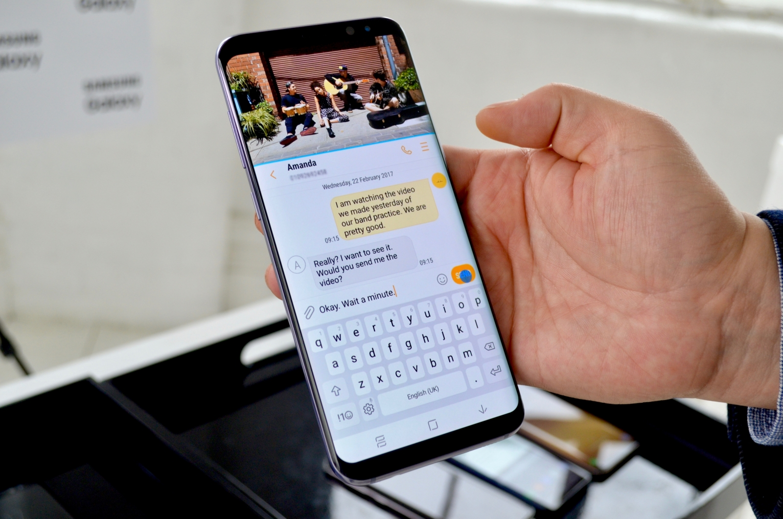 how to change samsung galaxy s8 text bubbles