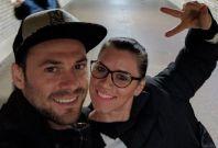 Andreea Cristea with her boyfriend Andrei Burnaz.