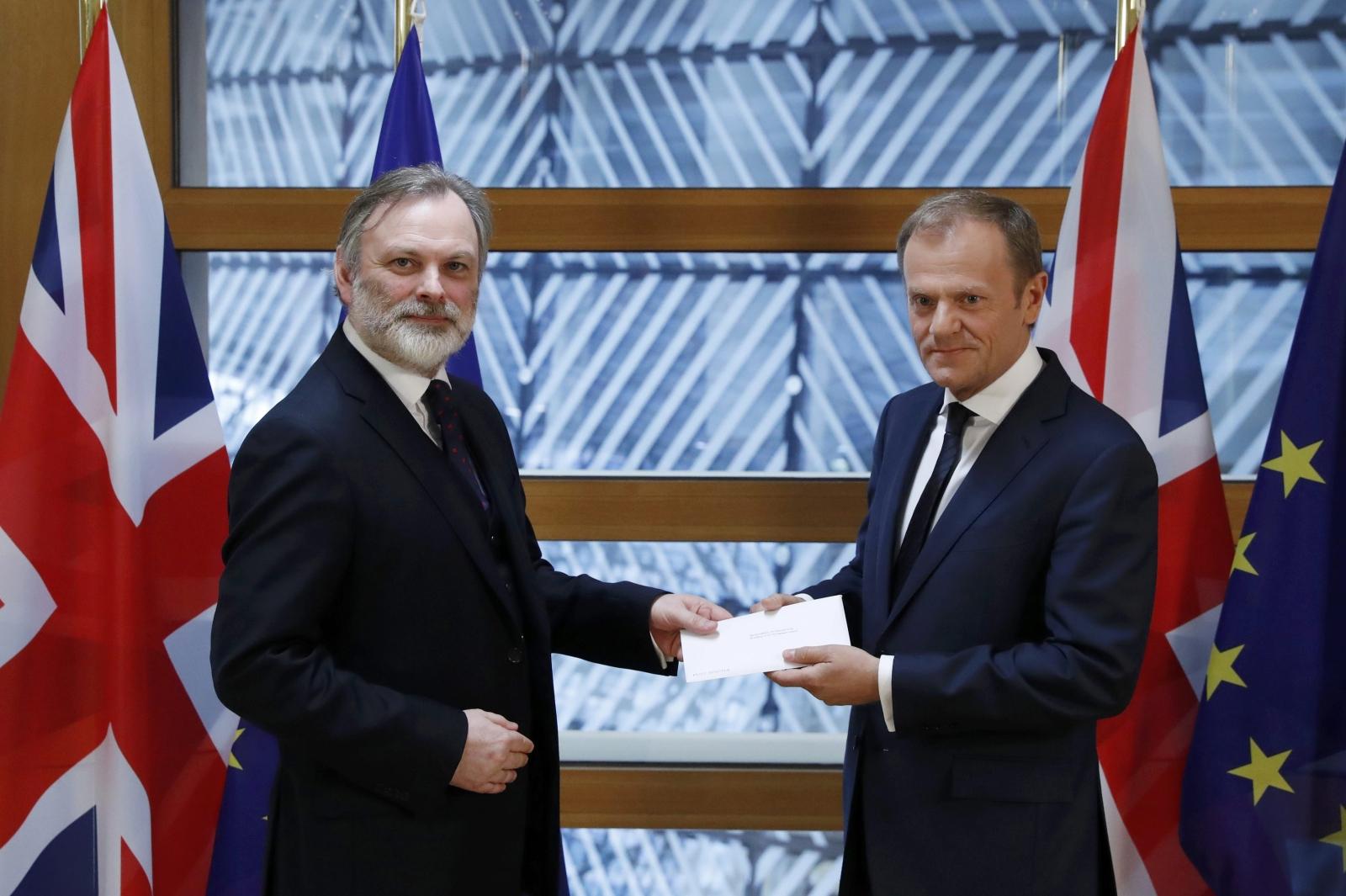 Brexit Article 50 Tim Barrow Donald Tusk