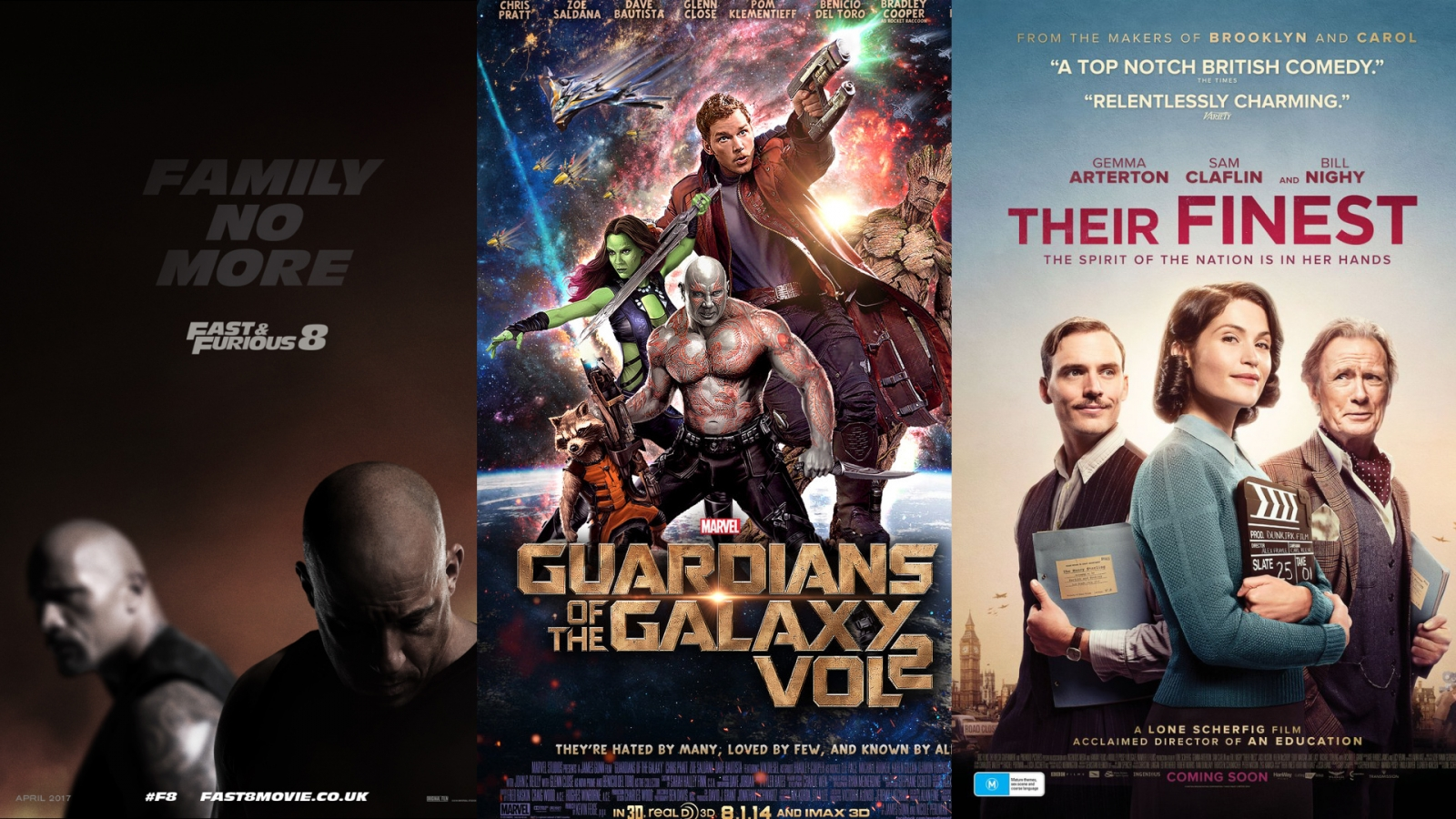 April film preview: Fast & Furious 8, Their Finest and Guardians of the Galaxy Vol 2