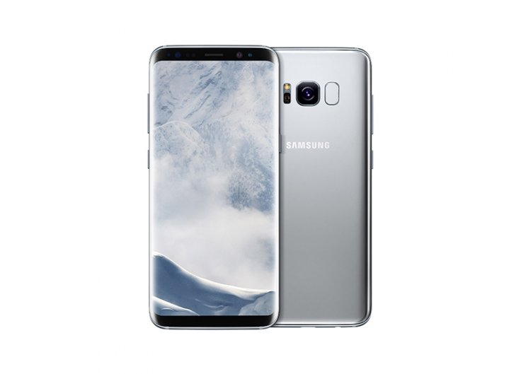 The Galaxy S8 silver