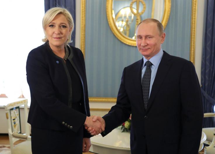 Marine Le Pen meets Vladimir Putin