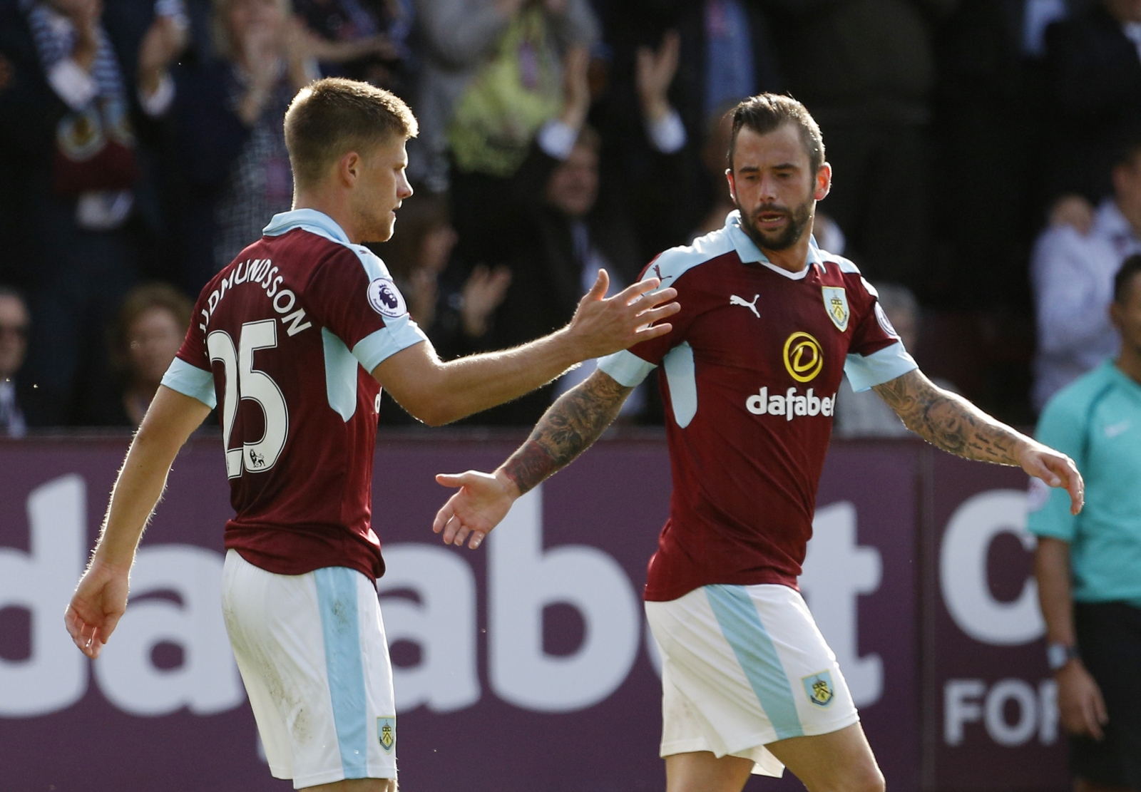 Johann Berg Gudmundsson and Steven Defour