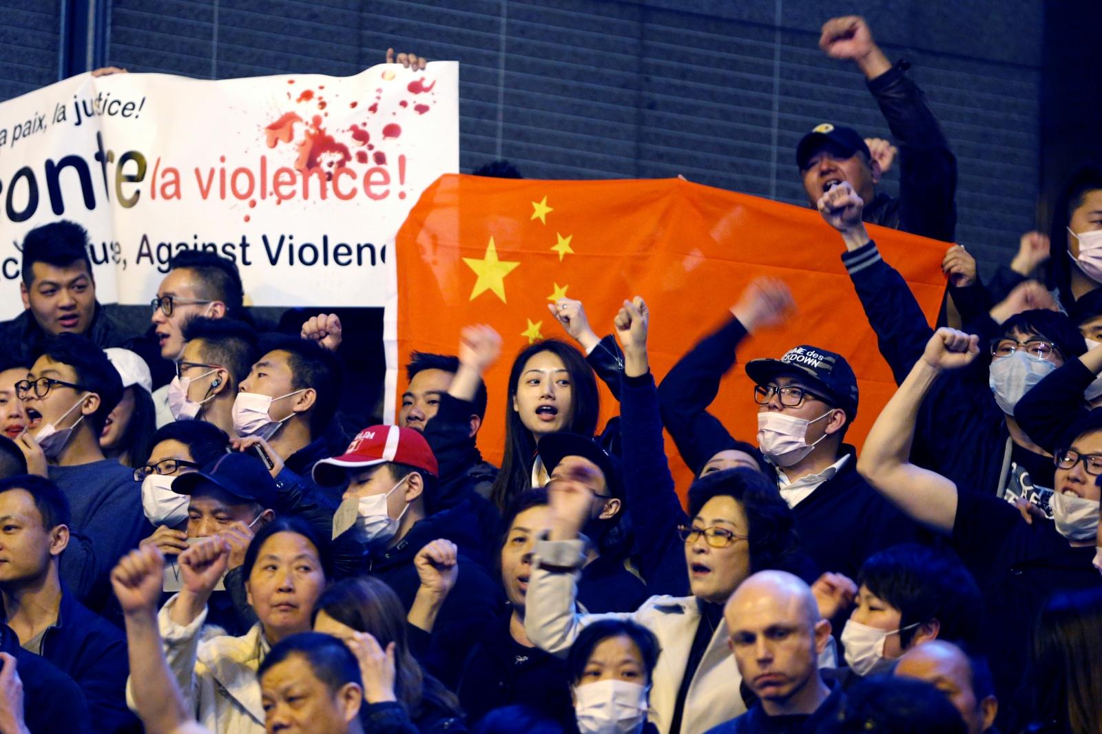 Chinese community protest Paris killing