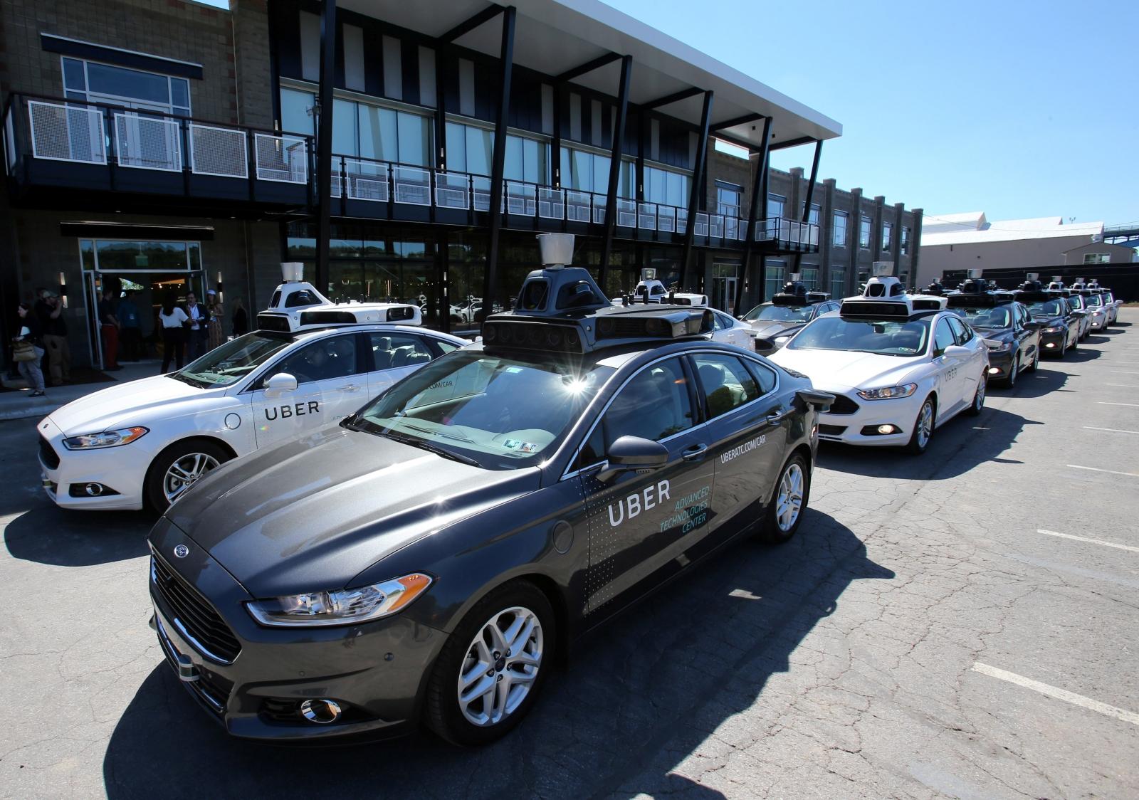 Autonomous Uber car