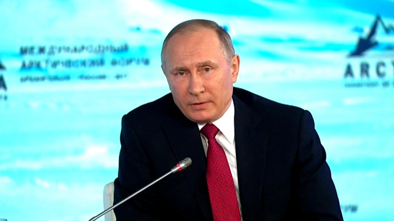 Vladimir Putin on Arctic Forum