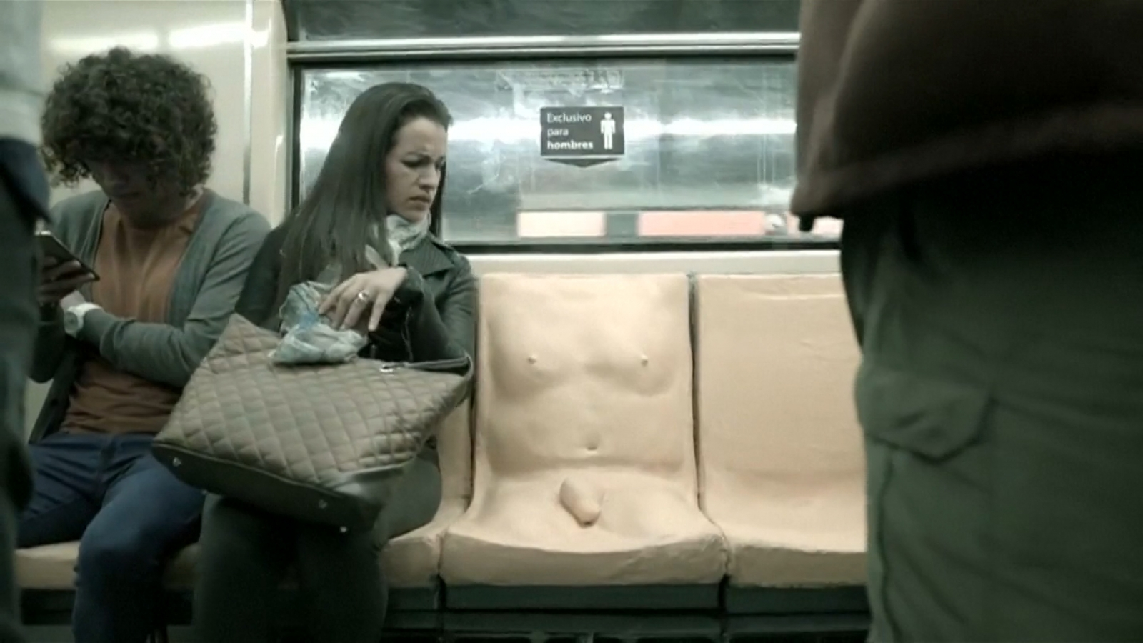 Penis seat on train challenges sexual harassment on public transport