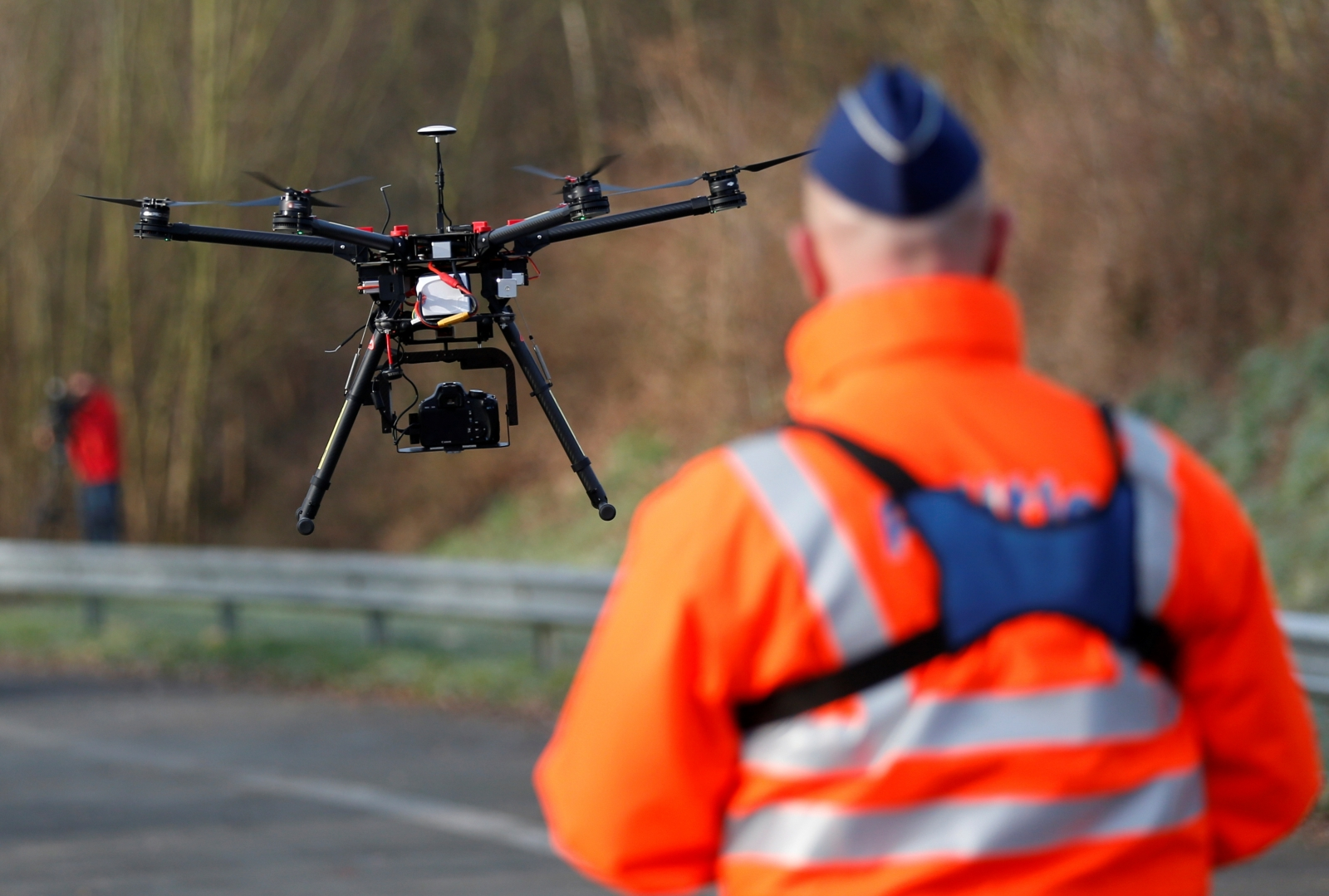 A Belgian police drone