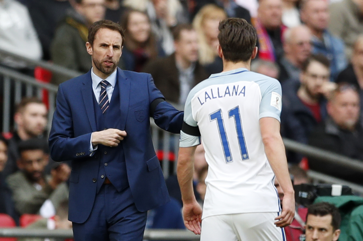 Gareth Southgate and Adam Lallana