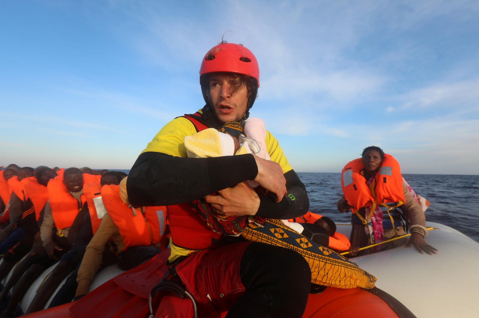 4year old rescued from mediterranean