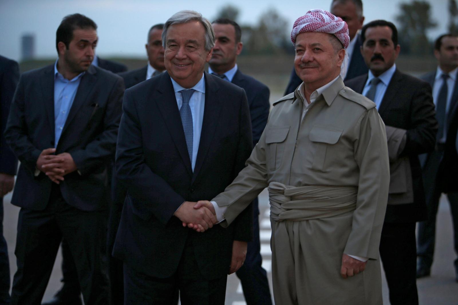 Guterres and Barzani