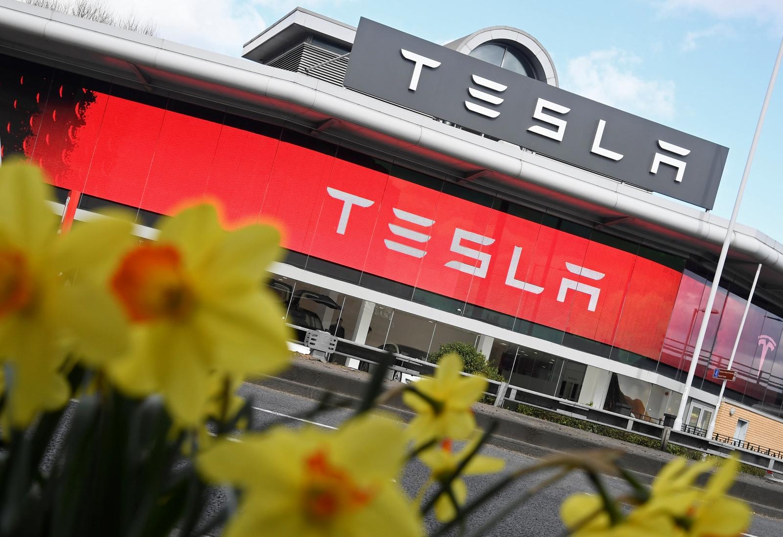 Tesla store Chiswick, London