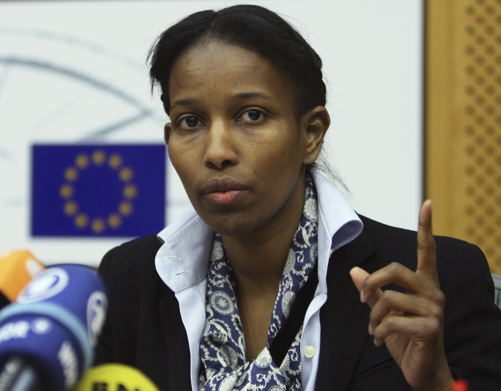 Ayaan Hirsi Ali, a former Dutch parliamentarian,