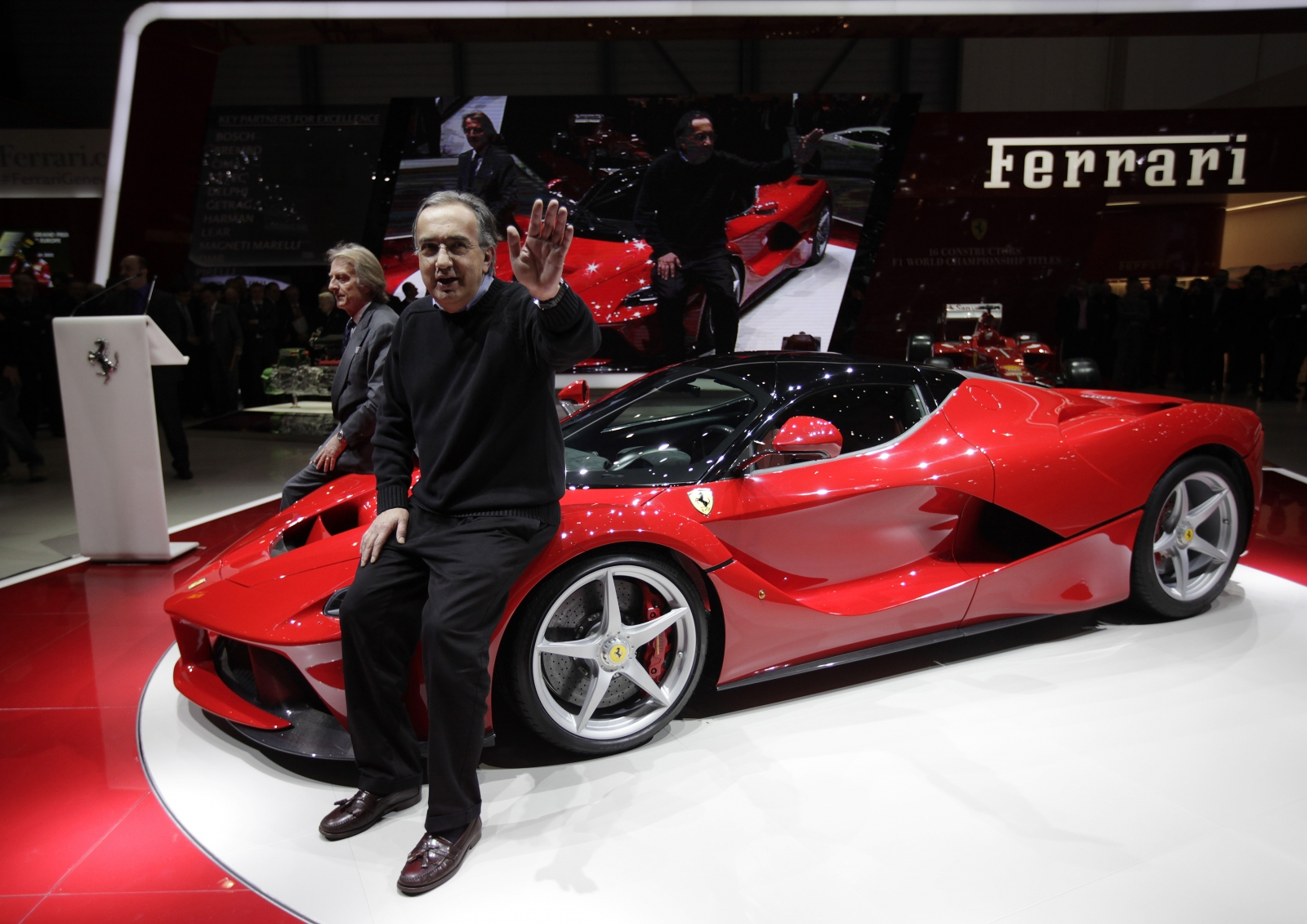 Ferrari boss Sergio Marchionne and LaFerrari