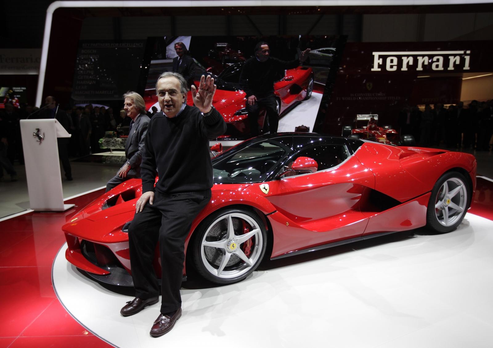 Ferrari boss Sergio Marchionne and LaFerrari