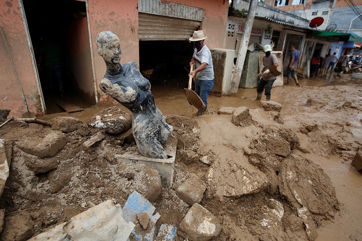 Colombia mudslides landslides floods