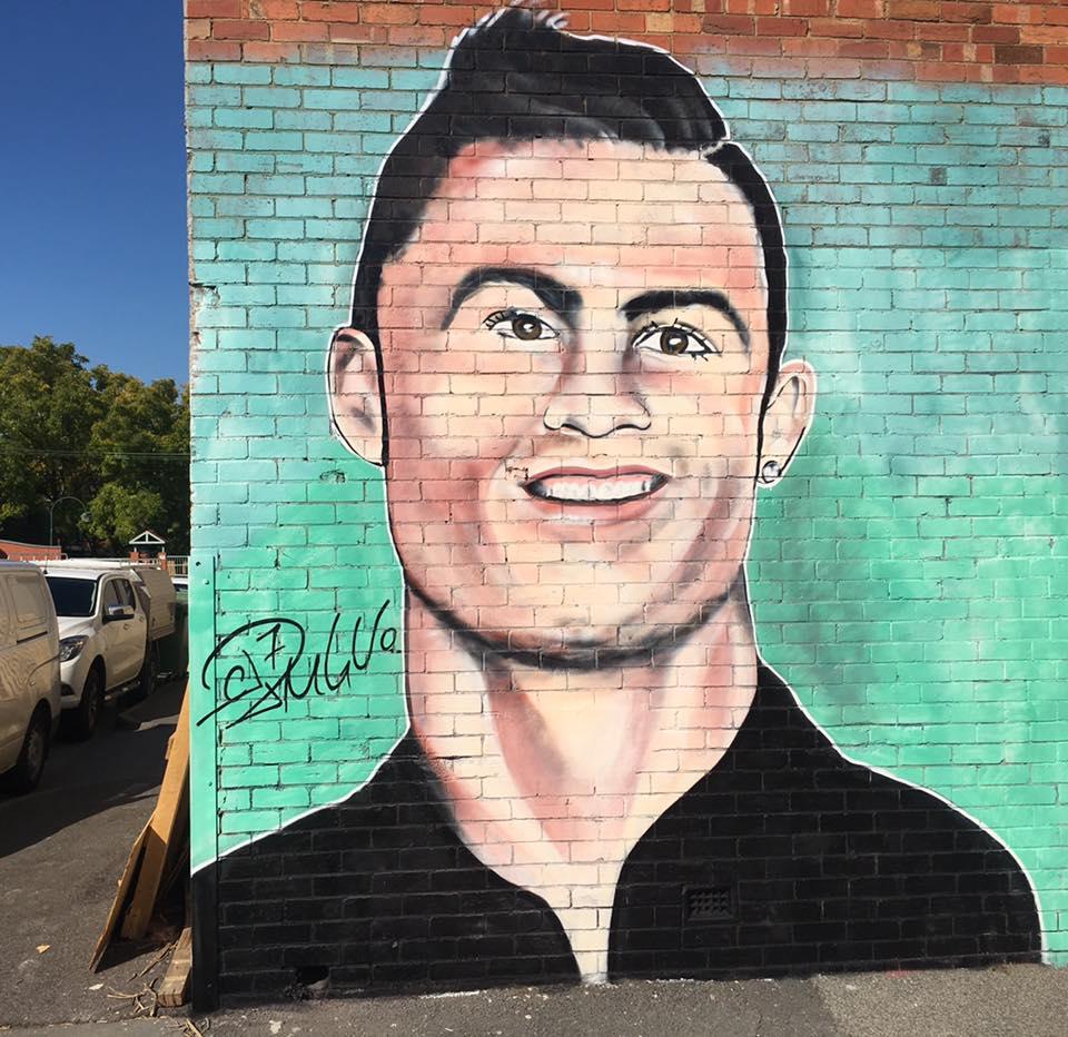 Cristiano Ronaldo mural