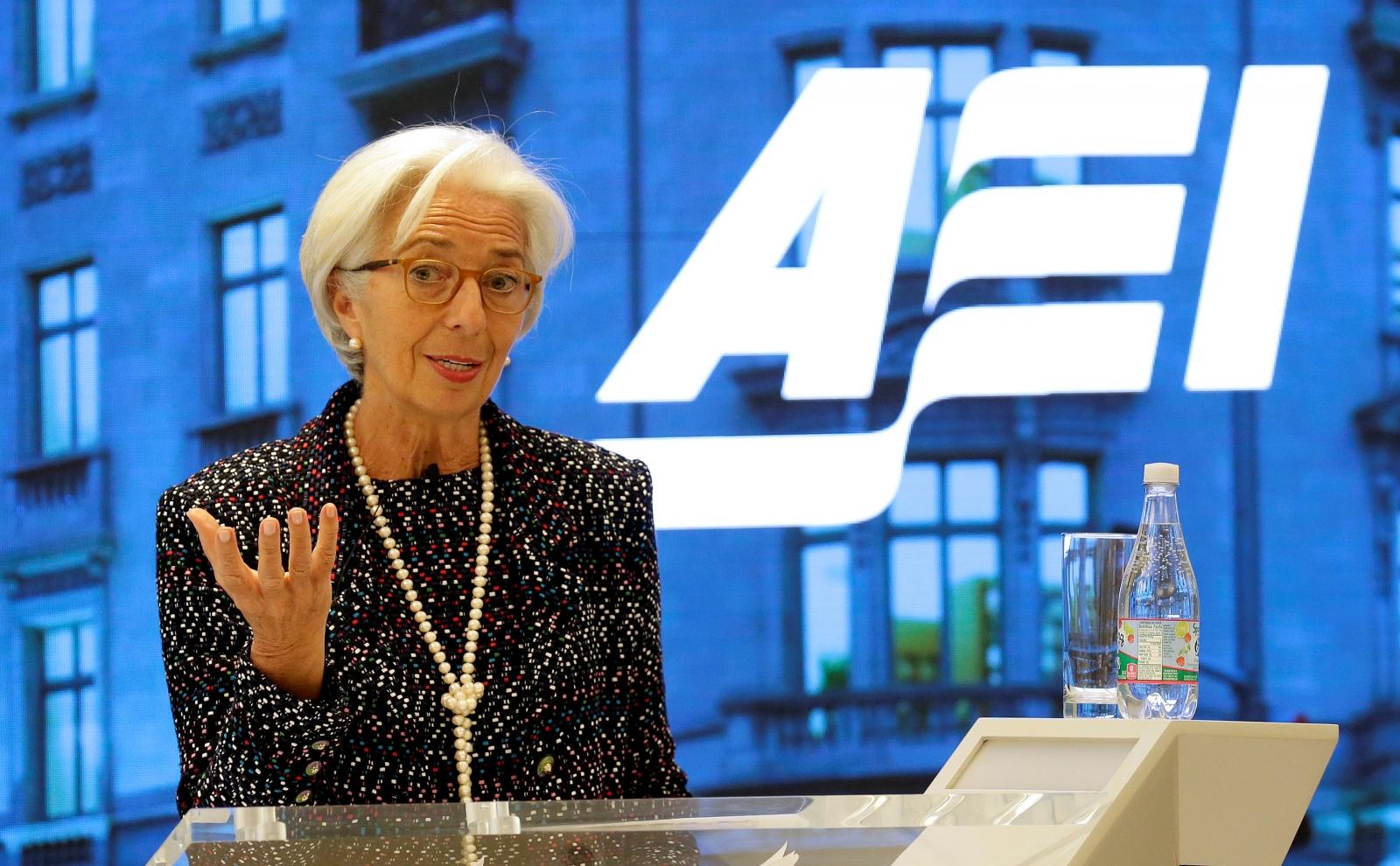 Lagarde at AEI