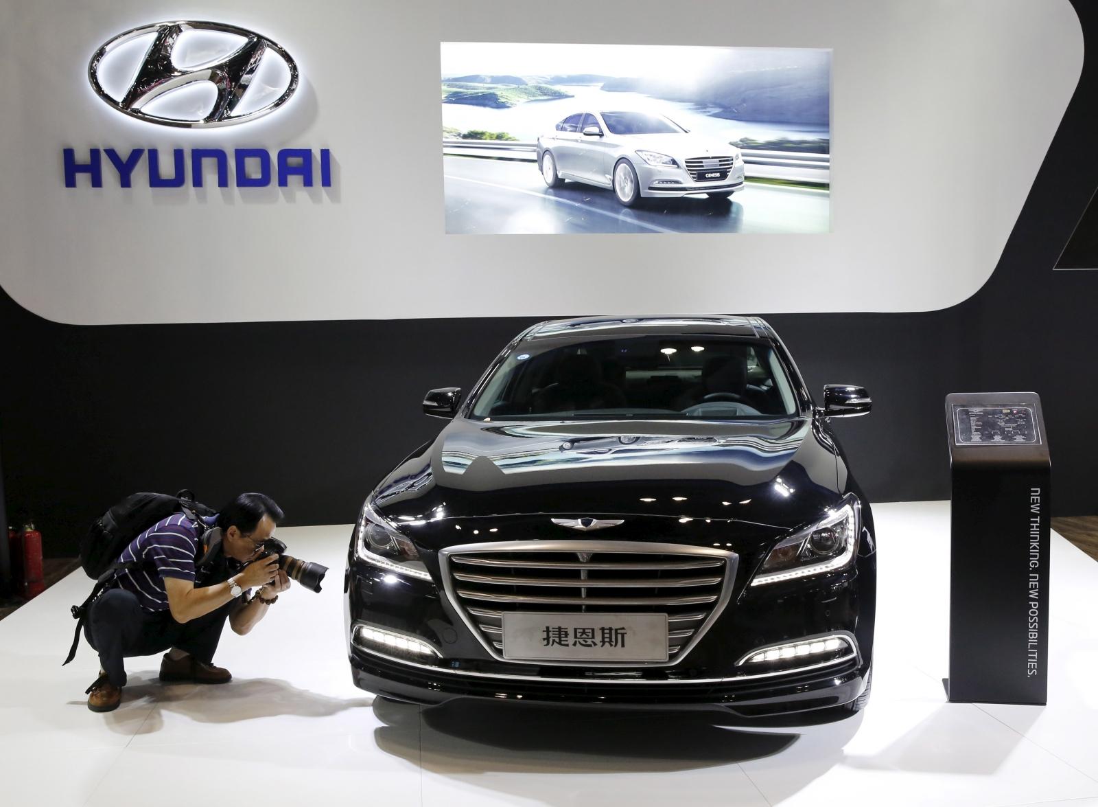 Hyundai car in Beijing