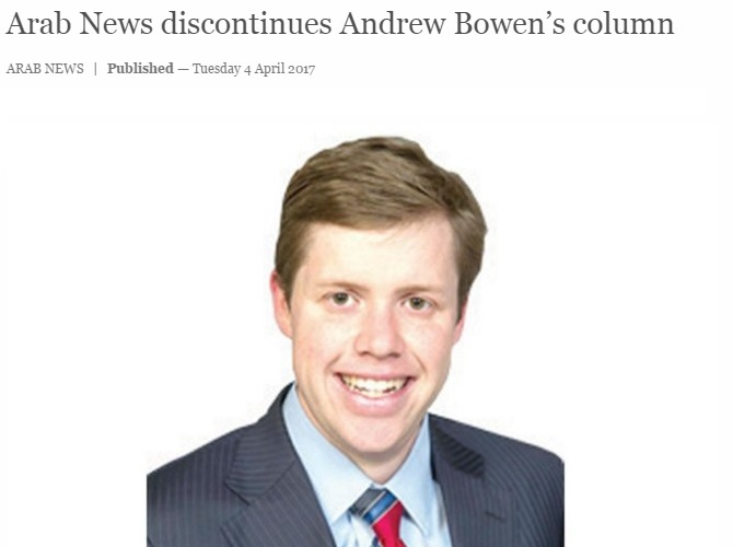 Andrew Bowen Arab News