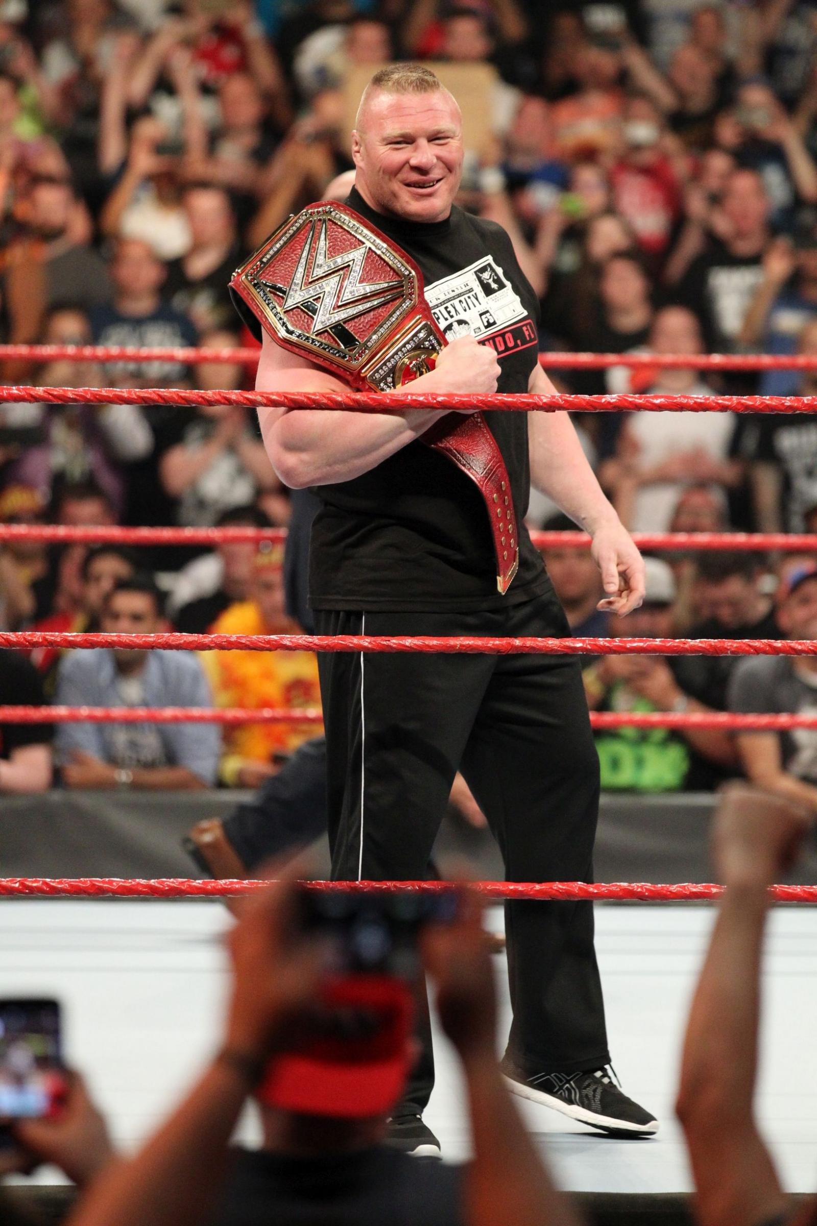 WWE Raw 4 April 2017 Brock Lesnar