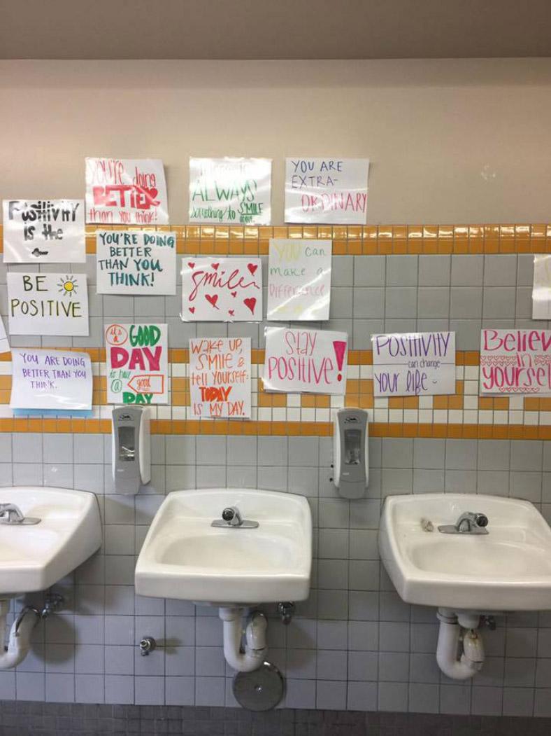 high school bathroom mirror. bathroom notes high school mirror v